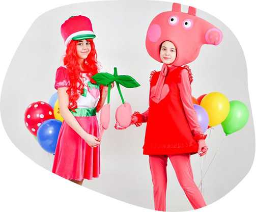 Свинка Пеппа и Шарлотта Земляничка